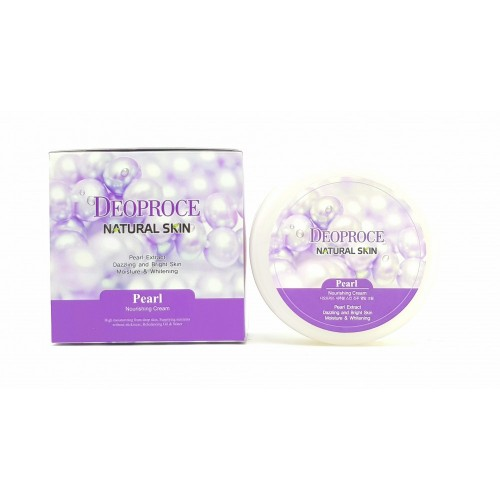 Крем для лица и тела питательный Deoproce Natural Skin Pearl Nourishing Cream, 100 гр.