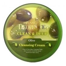 Очищающий крем для лица Premium Deoproce Clean & Deep Olive Cleansing Cream с экстрактом оливы, 300 гр.