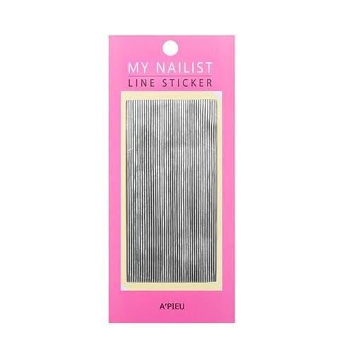 Стикеры для ногтей A'Pieu  My Nailist Line Sticker (Silver), 1 шт.