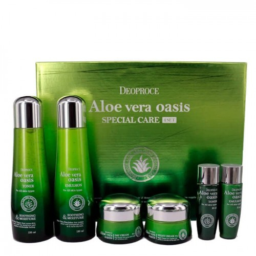 Набор уходовый Deoproce Aloe Vera Oasis Special Care 4 Set с экстрактом алоэ, 1 шт.