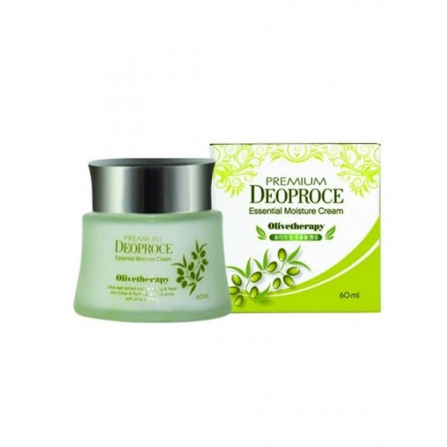 Увлажняющий крем для лица Premium Deoproce Olivetherapy Essential Moisture Cream с экстрактом маслы оливы, 60 мл