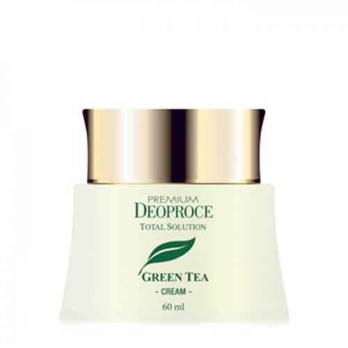 Крем для лица Deoproce Green Tea Total Solution Cream на основе зеленого чая, 60 мл