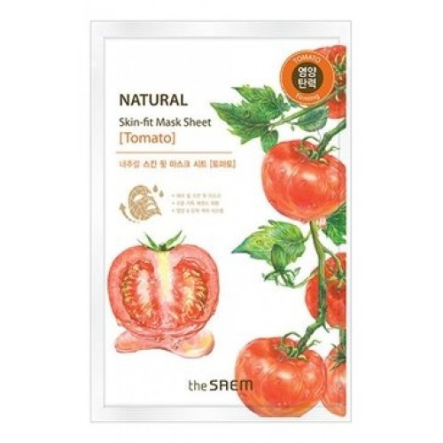 Тканевая маска для лица The Saem Natural Skin Fit Mask Sheet Tomato с экстрактом томата, 20 мл