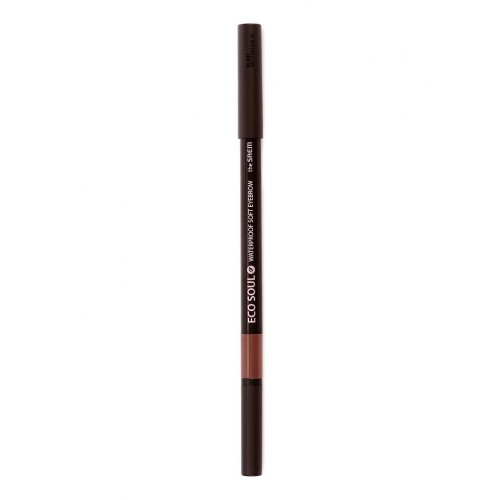 Карандаш для бровей The Saem Eco Soul Waterproof Soft Eyebrow 04 Red Brown, 0.5 гр.