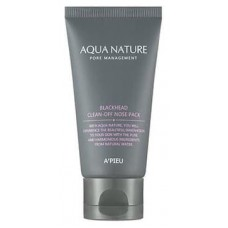 Очищающая маска для носа от черных точек A'Pieu Aqua Nature Pore Management Blackhead Clean-Off Nose Pack, 50 мл