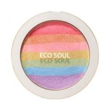 Румяна-хайлайтер компактные The Saem Eco Soul Prism Blusher, 8 гр.