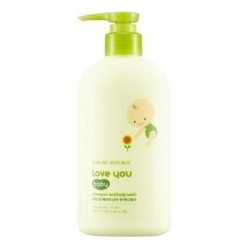 Шампунь и гель для душа 2-в-1 Nature Republic Love You Baby Shampoo & Body Wash, 310 мл