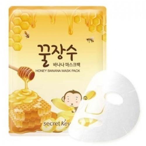 Тканевая маска для лица Secret Key Honey Banana Mask Pack, 25 гр.