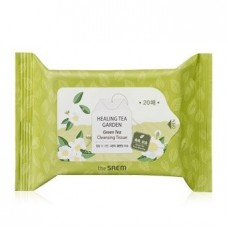Салфетки очищающие The Saem Healing Tea Garden Green Tea Cleansing Tissue с экстрактом зеленого чая, 20 шт.