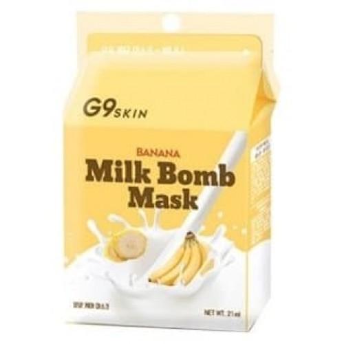 Маска для лица тканевая G9SKIN Milk Bomb Mask Banana, 21 мл