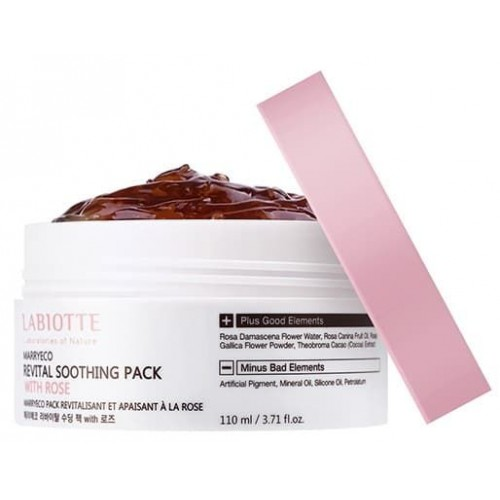 Укрепляющая маска для лица Labiotte Marryeco Soothing Pack Rose, 110 мл