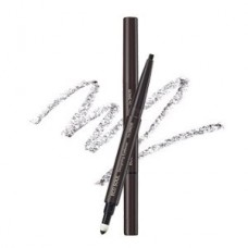 Карандаш для бровей 3 в1 The Saem Eco Soul Designing Eyebrow Grey Brown, 0,2 гр.+ 0,12 гр.