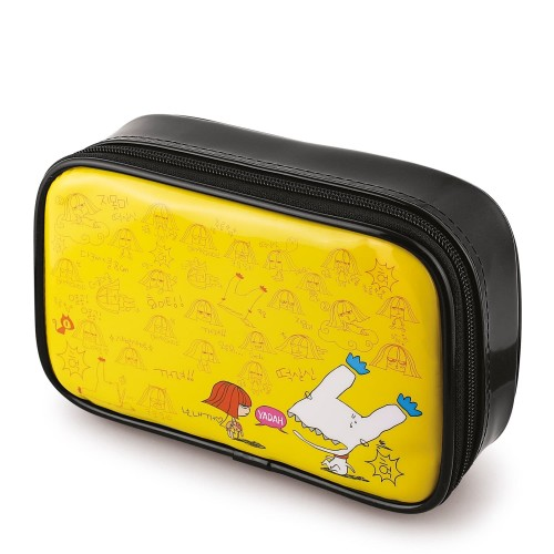 Косметичка YADAH Cosmetic Pouch Hot Yellow, 1 шт.