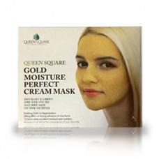 Набор антивозрастных масок для лица Anskin Gold Moisture Perfect Cream Mask с экстрактом золота,  50 гр.*4