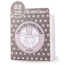 Очищающее мыло A'PIEU Volcanic Pore Soap с вулканической золой, 100 гр.