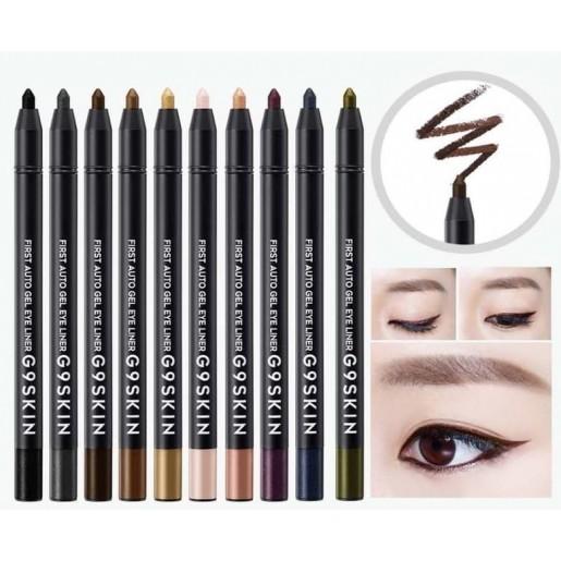 Гелевый карандаш для глаз G9SKIN First Auto Gel Eyeliner 01 Real Black, 0,5 гр.