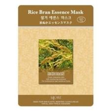 Тканевая маска Mijin Rice Bran Essence Mask для лица рисовые отруби, 23 гр.