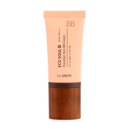BB крем The Saem Eco Soul Porcelain Skin BB Cream Light Beige, 45 мл
