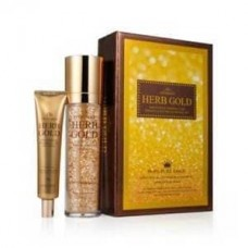 Антивозрастной подарочный набор Deoproce Estheroce Herb Gold Whitening & Wrinkle Care Essence & Eye Cream Special Set, 135 мл + 40 гр.