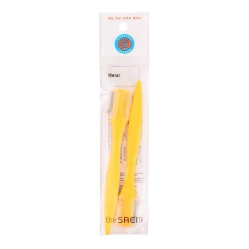 Щетка-корректор бровей желтая в наборе The Saem Eyebrow Trimmer (2P), 2 шт.