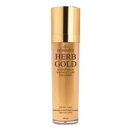 Эмульсия для лица омолаживающая Estheroce Herb Gold Whitening & Wrinkle Care Emulsion, 135 мл