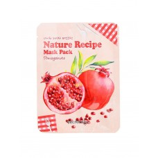Тканевая маска для лица Secret Key Nature Recipe Mask Pack Pomegranate с экстрактом граната, 20 мл