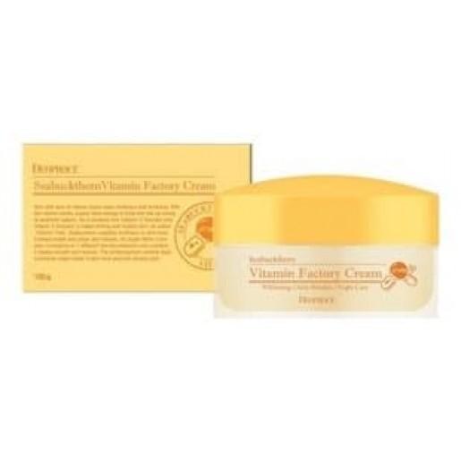 Омолаживающий ночной крем для лица Deoproce Seabuckthorn Vitamin Factory Cream, 100 гр.