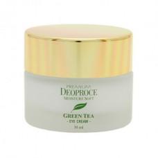 Увлажняющий крем для век Premium Deoproce Moisture Soft Eye Cream с экстрактом зеленого чая, 30 мл