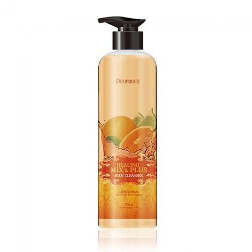 Гель для душа Deoproce Healing Mix & Plus Body Cleanser Lime Citrus, лимон и цитрус, 750 гр.