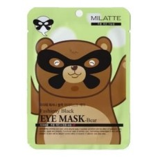 Увлажняющая маска от морщин вокруг глаз Milatte Fashiony Black Eye Mask Bear, 10 гр.