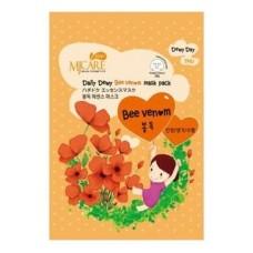Тканевая маска для лица Mijin MJ Care Daily Dewy Bee Venom Mask Pack с пчелиным ядом, 25 гр.