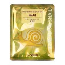 Тканевая маска для лица The Saem Pure Natural Mask Sheet Snail с муцином улитки, 20 мл