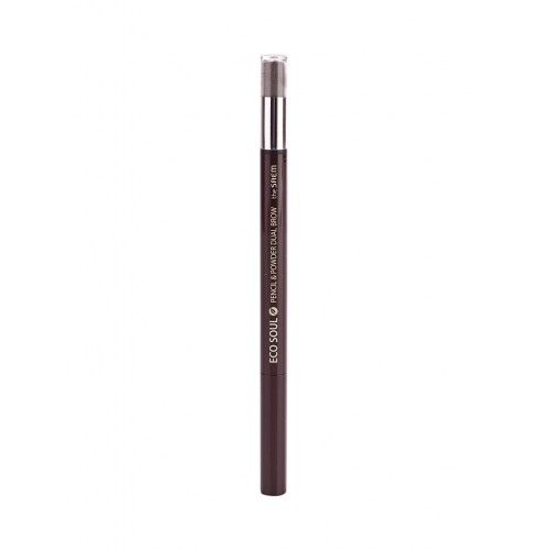 Карандаш-пудра для бровей The Saem Eco Soul Pencil & Powder Dual Brow Black Gray, 0,5 гр.*0,3 гр.