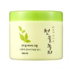 Массажный крем Welcos Green Tea Control Massage Cream, 300 гр.