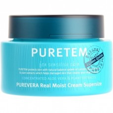 Крем для лица и шеи Welcos Puretem Purevera Real Moist Cream Super Size, 110 мл