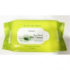 Очищающие салфетки для лица Deoproce Pure Natural Wet Tissue, 60 шт.