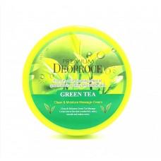 Крем массажный Premium Deoproce Clean & Moisture Green Tea Massage Cream, 300 гр.