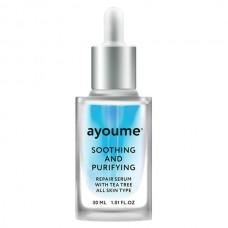 Успокаивающая сыворотка для лица AYOUME Tea Tree Soothing-&-Purifying Serum, 30 мл
