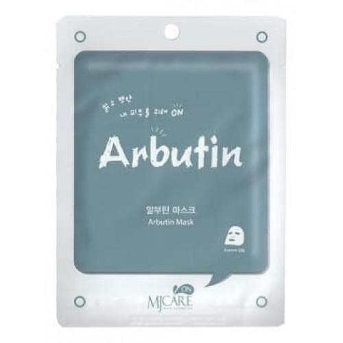 Тканевая маска для лица MJ Care On Arbutin Mask Pack с арбутином, 22 гр.