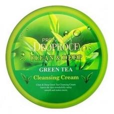Очищающий крем для лица Premium Deoproce Clean & Deep Green Tea Cleansing Cream с экстрактом зеленого чая, 300 гр.