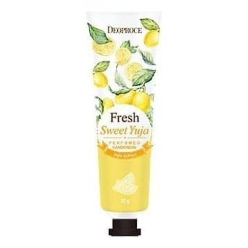 Крем для рук парфюмированный Deoproce Fresh Perfumed Hand Cream Sweet Yuja, 30 гр.