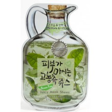 Фруктовая тканевая маска для лица Baviphat Green Tea Juicy Mask Sheet ( Moisture & Lifting ), 23 гр.