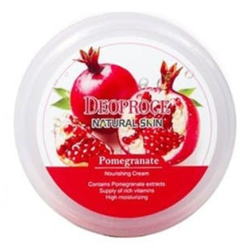 Питательный крем для лица и тела Deoproce Natural Skin Pomegranate Nourishing Cream с экстрактом граната, 100 гр.