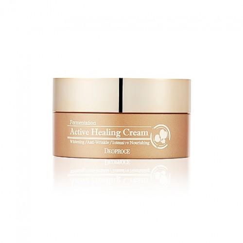 Кислородный питательный крем для лица Deoproce Fermentation Active Healing Cream, 100 мл