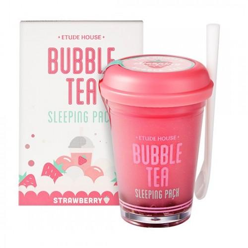 Ночная маска для лица Etude House Bubble Tea Sleeping Pack Strawberry с экстрактом клубники, 100 мл