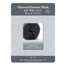 Тканевая маска для лица Mijin Charcoal Essence Mask с древесным углем, 23 гр.