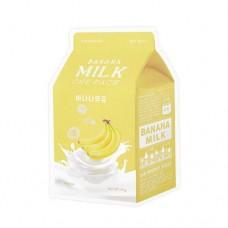 Тканевая маска для лица A'Pieu Banana Milk One-Pack с экстрактом банана, 21 гр.