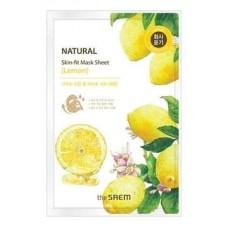 Тканевая маска для лица The Saem Natural Skin Fit Mask Sheet Lemon с экстрактом лимона, 20 мл