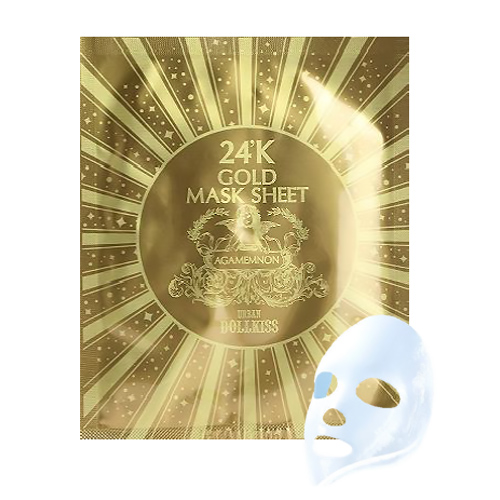 Омолаживающая маска для лица Urban Dollkiss Agamemnon 24K Gold Mask Sheet с 24-каратным золотом, 30 гр.