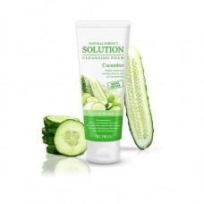 Пенка для умывания Deoproce Natural Perfect Solution Cleansing Foam Green Edition Cucumber, огурец, 170 гр.